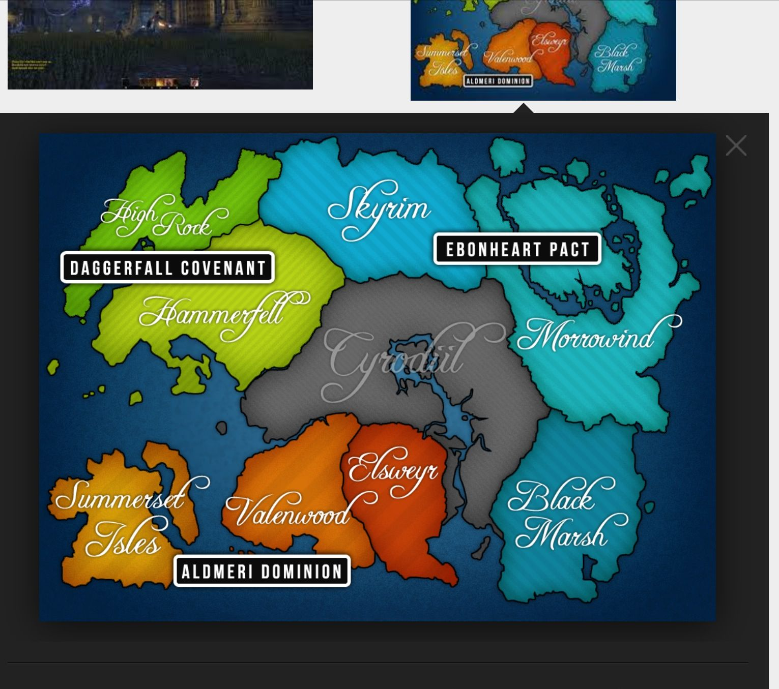 This Is The Elder Scrolls Online Map With The Different Alliance - Live map online