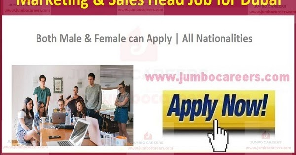 Marketing Sales Head Job In Dubai Uae Sales And Marketing Jobs