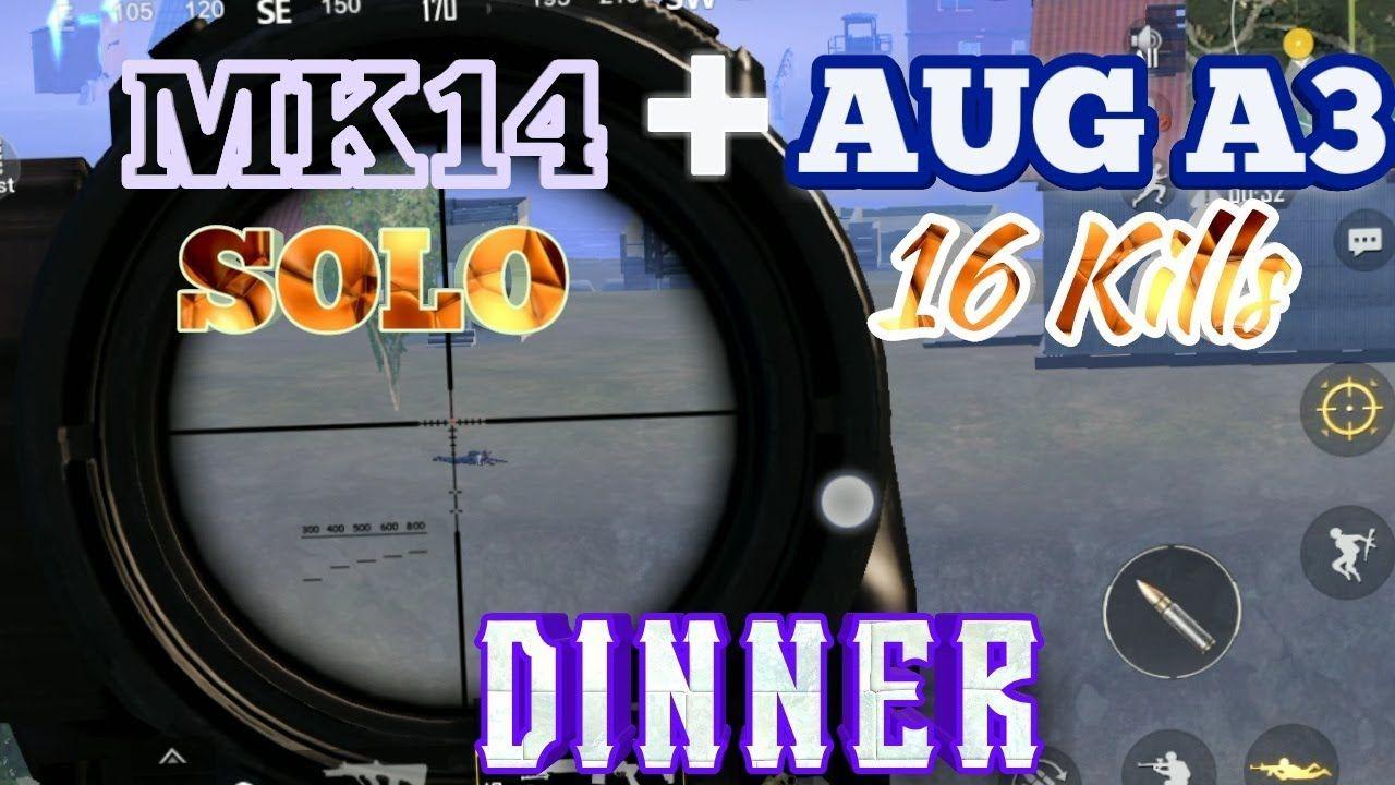 MK14 + AUG A3 | 16 Kills | Chicken Dinner | PUBG Mobile