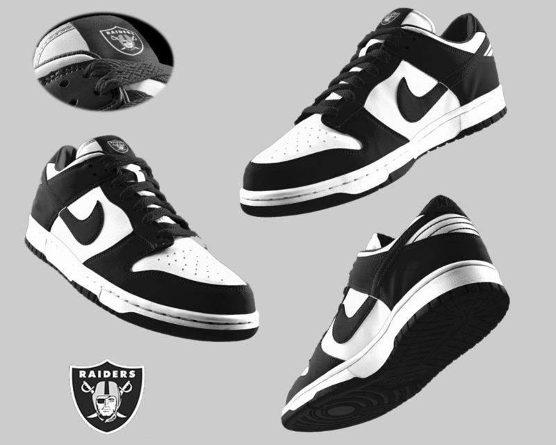 d863c96a277c92 Mens Nike Oakland Raiders Dunk Shoes in white black ID ...