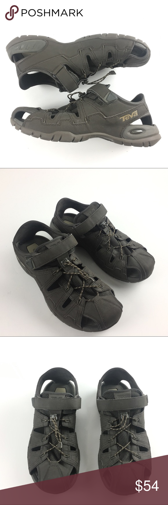 472351465 Teva Sport Men s Sandals Size 11 Dozer 4 Teva Sport Men s Sandals Size 11 Dozer  4 Black Olive Walking Excellent condition. Adjustable strap and drawstring  ...