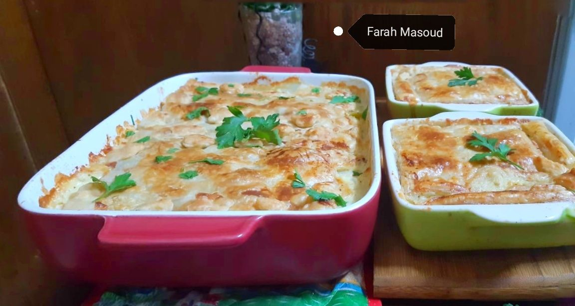 صينية الدجاج مع الكريمة و البف باستري Cooking Recipes Recipes Cooking