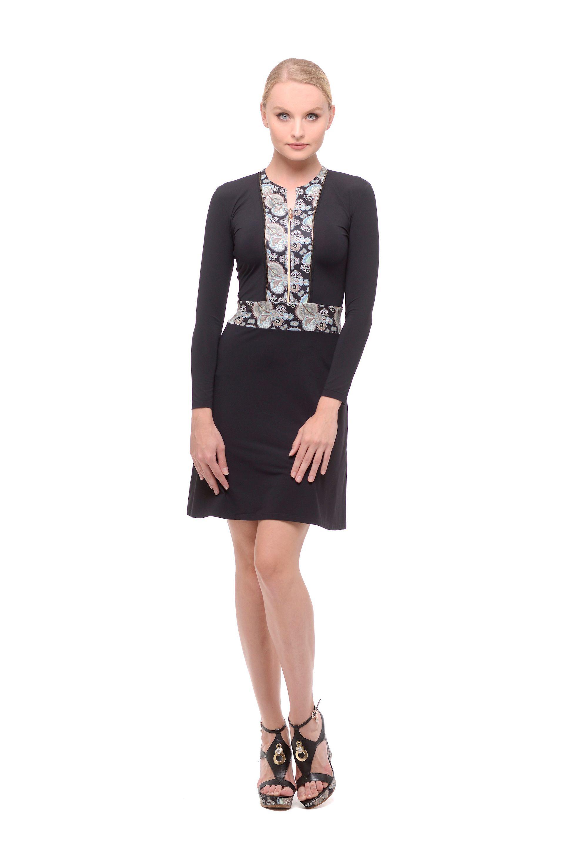 d533896f0124 Krátke šaty na zips čierne