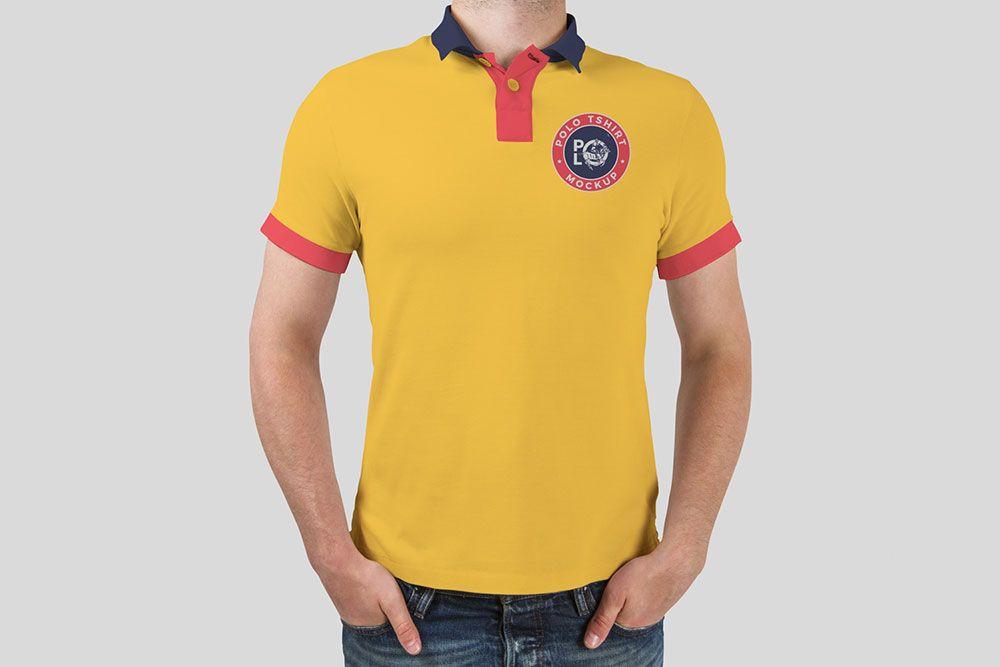 Download Free Man Polo T Shirt Mockup Shirt Mockup Free T Shirt Design Tshirt Mockup
