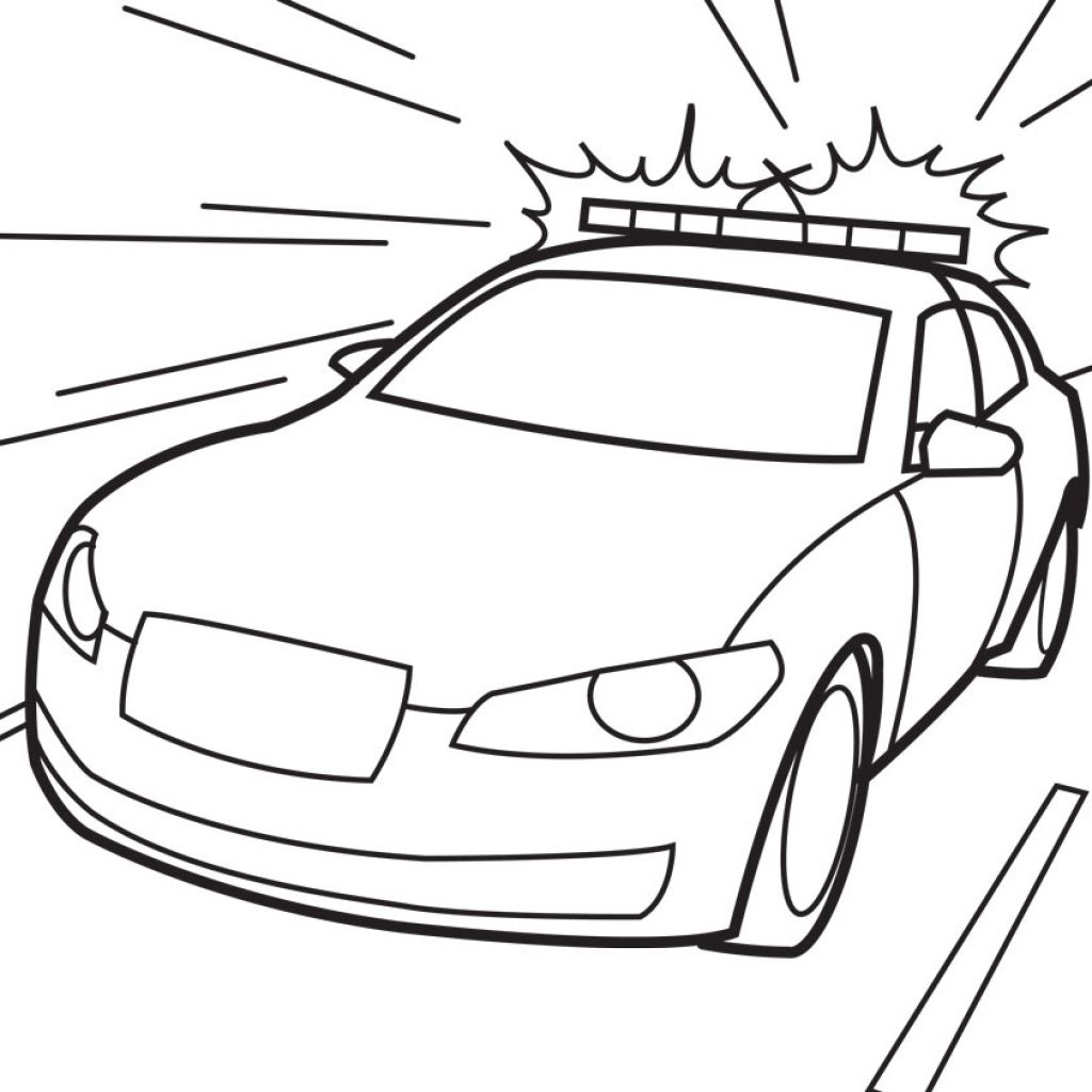 Free Cop Car Coloring Page To Print Out | Transportation Coloring ...