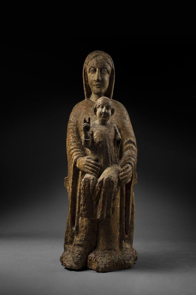 02 022 0000 00000 04653 2821 Vierge Romane D Auvergne Statue Vierge Marie Vierge Art Religieux