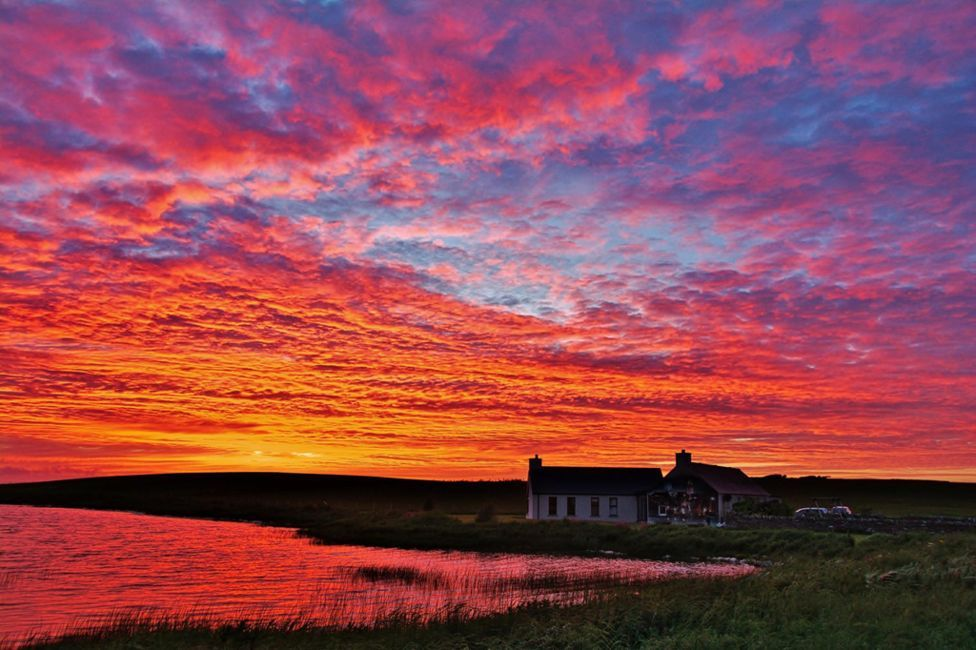 Sunset over Loch of Clumly, Orkney http://www.bbc.co.uk/news/uk-scotland-40354149