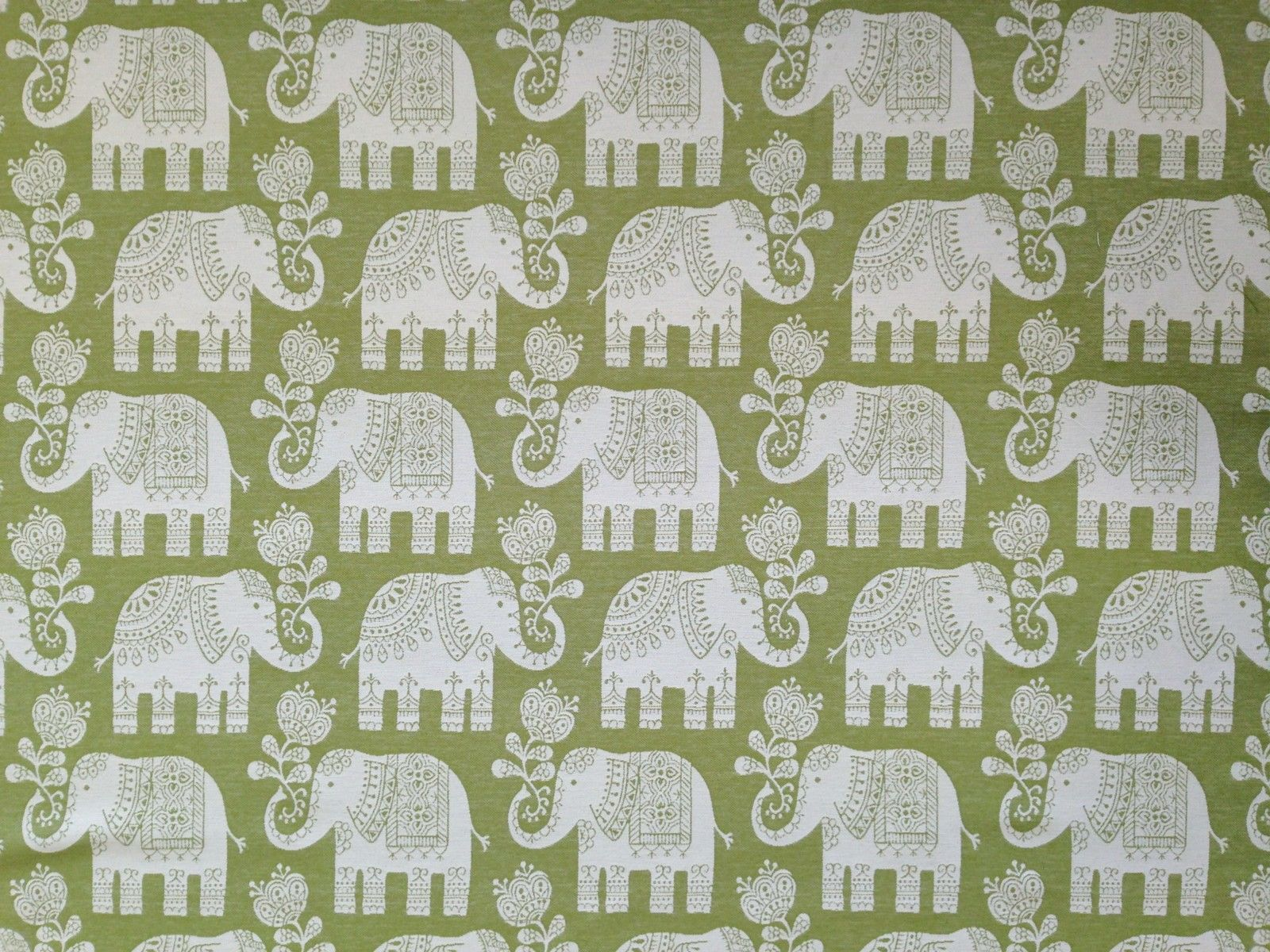MARSON ELEPHANTS AMY GREEN DESIGNER CURTAINS BLINDS UPHOLSTERY WOVEN FABRIC