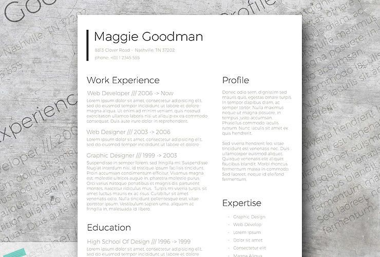 Free Classic and Sleek Resume Template Sample resume and Life hacks