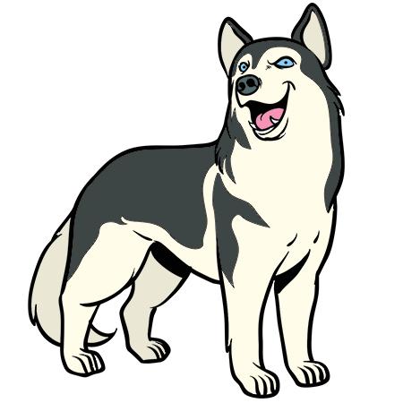 Coloriage chien husky a imprimer g teau cafe - Coloriage chien de traineau ...