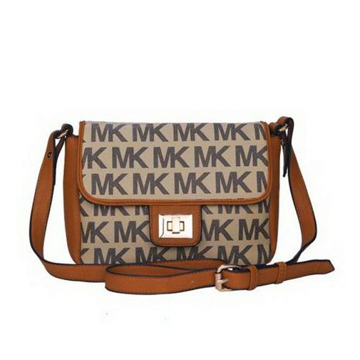 bdf97938736 Michael Kors Turn Lock Logo Medium Apricot Crossbody Bags dokuz limited  offer,no duty and