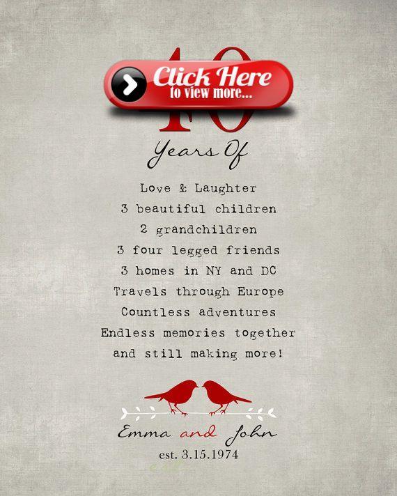 Ruby Wedding Gift Ideas For Husband: 40th Anniversary Gift For Parents 40th RUBY Anniversary