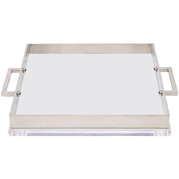 Mies Acrylic Tray By Michael Dawkins (16580 MAD) ❤ liked on Polyvore featuring home, kitchen & dining, serveware, grey, acrylic serveware, grey tray, acrylic tray and michael dawkins