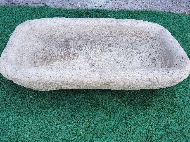 Vasca Giardino Pietra : Vasca fioriera lavandino in polvere di pietra no marmo no