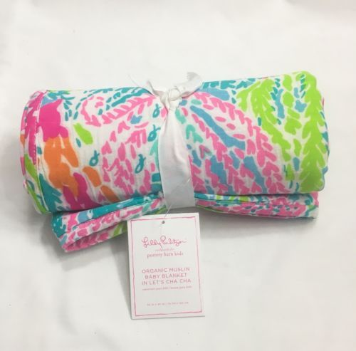 fd44caf6422c8e Blankets and Throws 3081: New Lilly Pulitzer Pottery Barn Muslin Baby  Blanket Let S Cha Cha Cotton Coral -> BUY IT NOW ONLY: $88 on eBay!