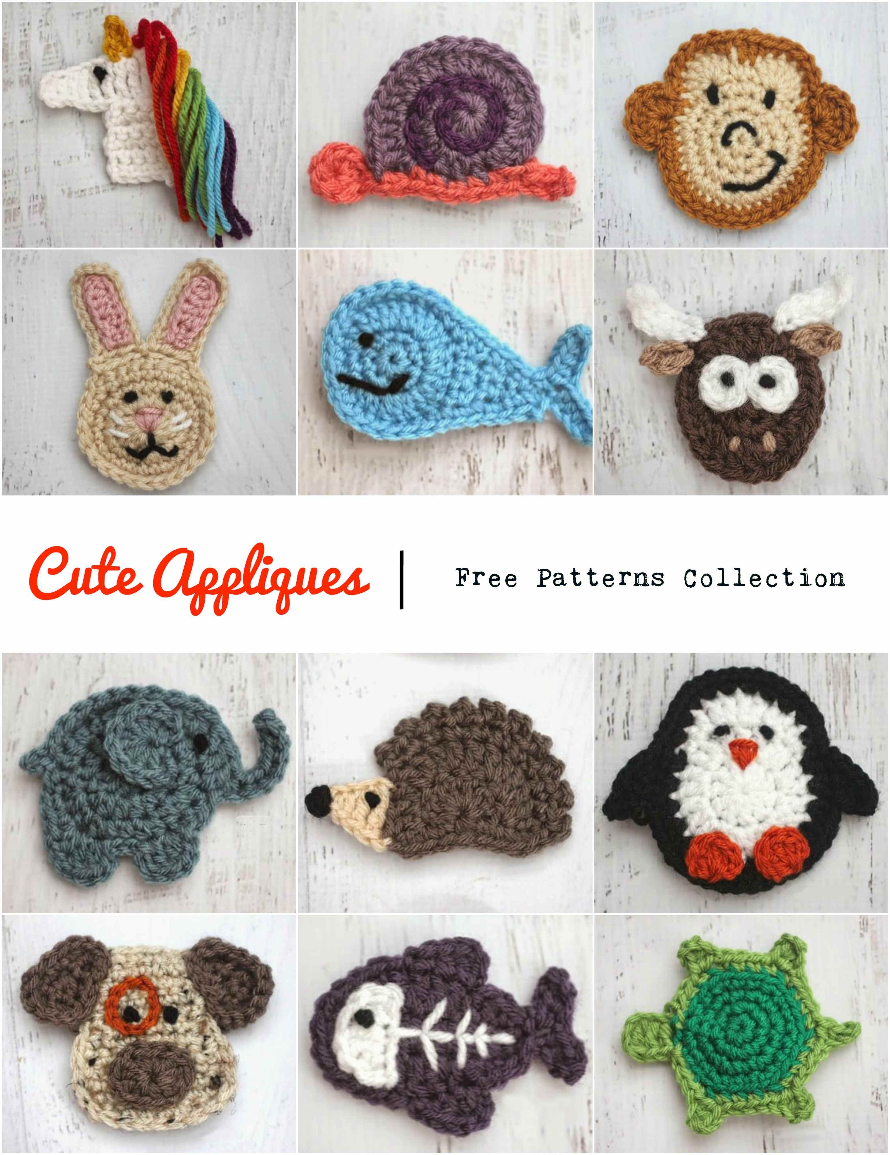 Cute Appliques Collection | Everything Crochet | Pinterest ...
