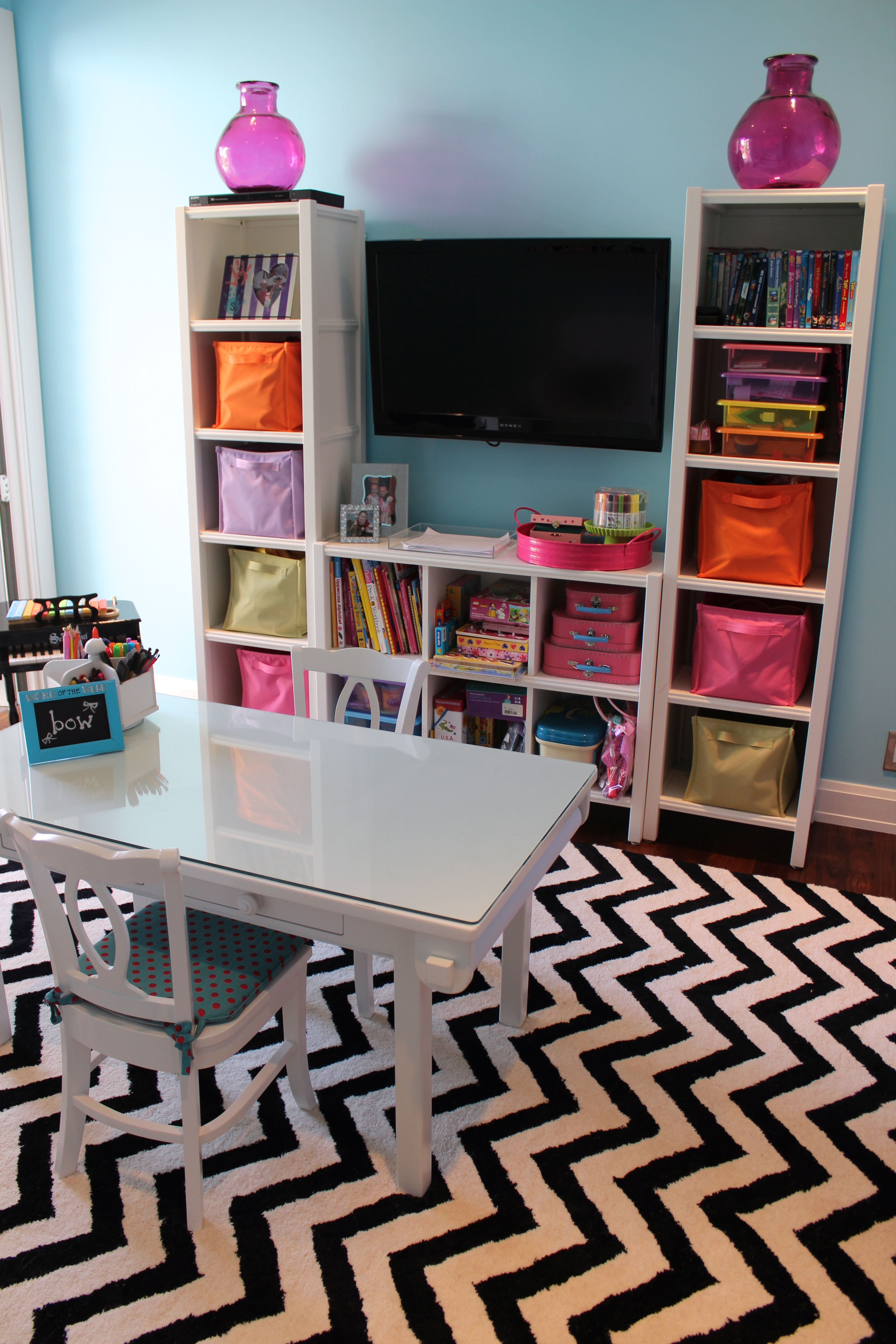 My Daughter S Contemporary Playroom Great Storage Unit