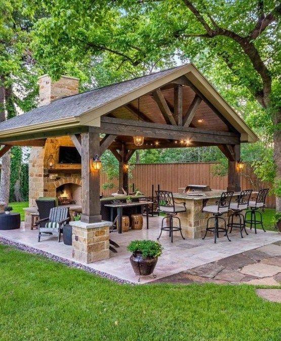 Stylish Gazebo Design Ideas For Your Backyard 02 Patio Design Outdoor Patio Decor Outdoor Fireplace Designs