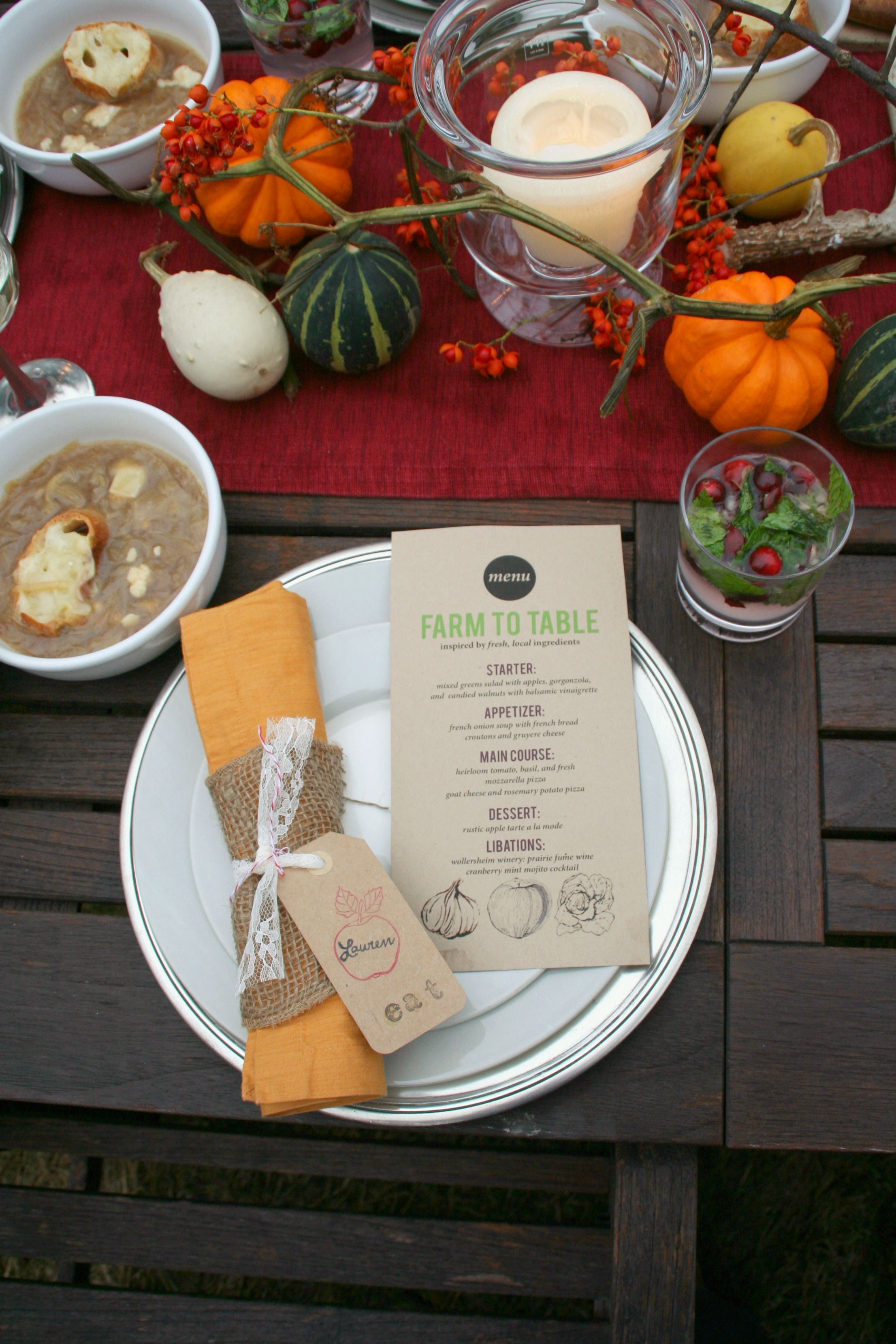 La Petite Fashionista Magazine From Farm To Table Fall Dinner Dinner