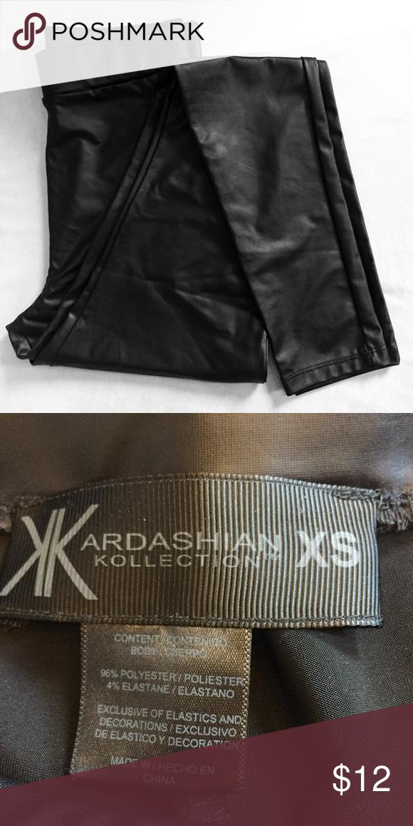 Faux leather leggings Faux leather leggings Kardashian Kollection Pants