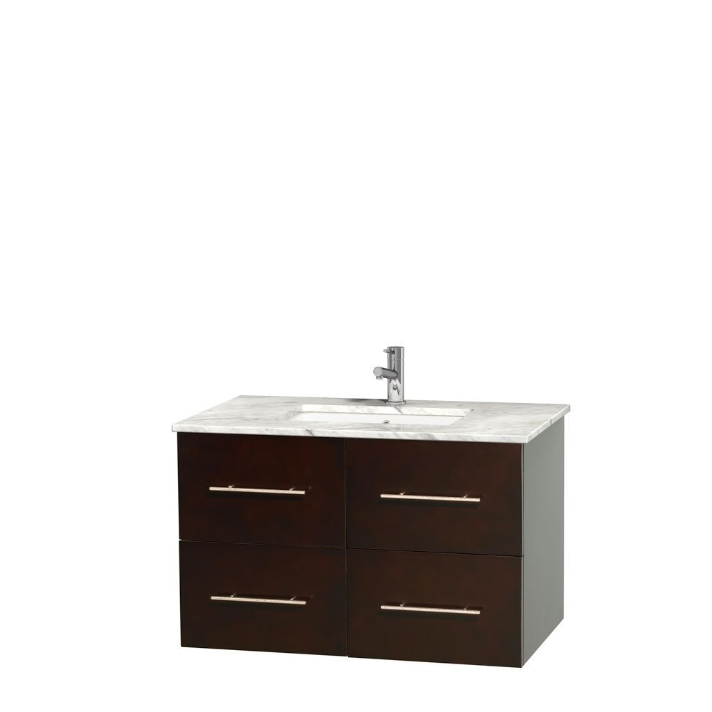 Wyndham Collection Centra 36 Inch Single Bathroom Vanity In