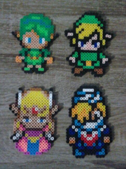 Legend Of Zelda Link Sheik Princess Zelda Saria Perler Beads
