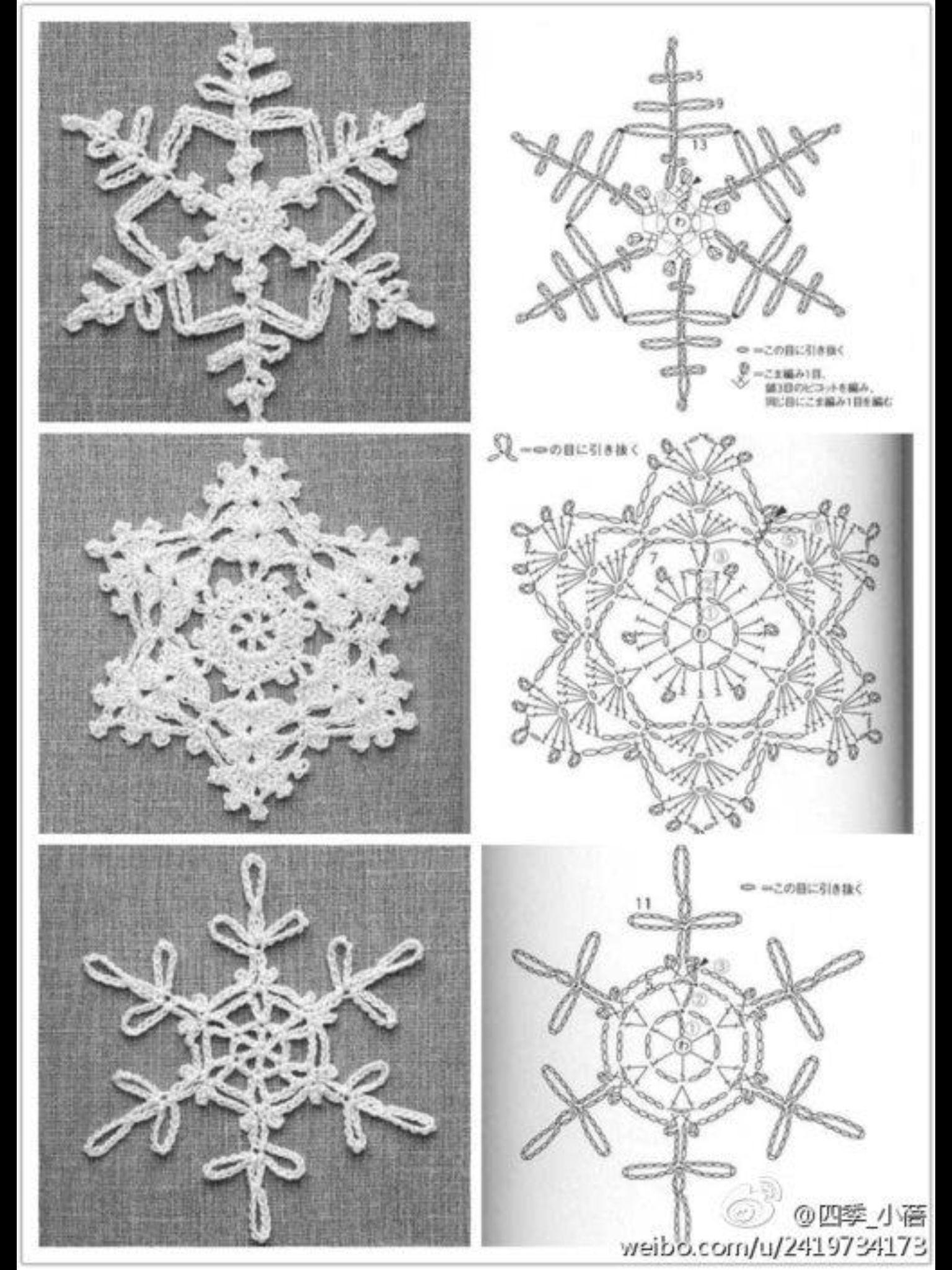Snøkrystaller | Christmas ideas | Pinterest | Nieve, Ganchillo y Navidad