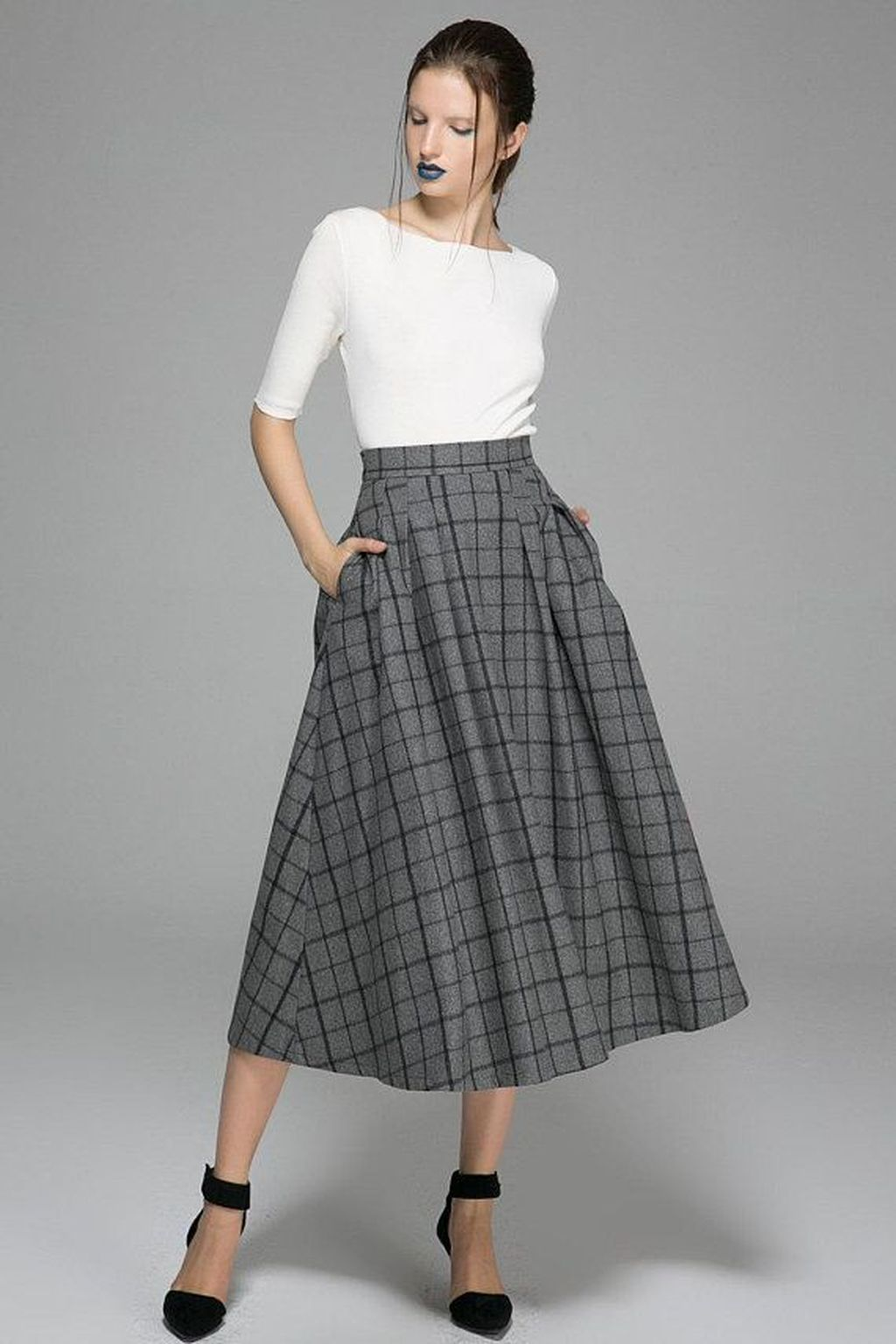 49d70c49f983e4 Pin by ADDICFASHION on Womens Fashion in 2019 | Winter skirt, Wool ...