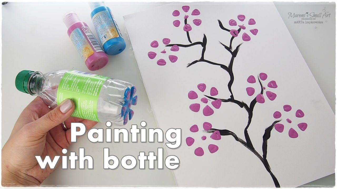 Bottle Painting Technique For Beginners Craft Hacks Maremi S Small Art Youtube Beginner Crafts Small Art Bottle Painting