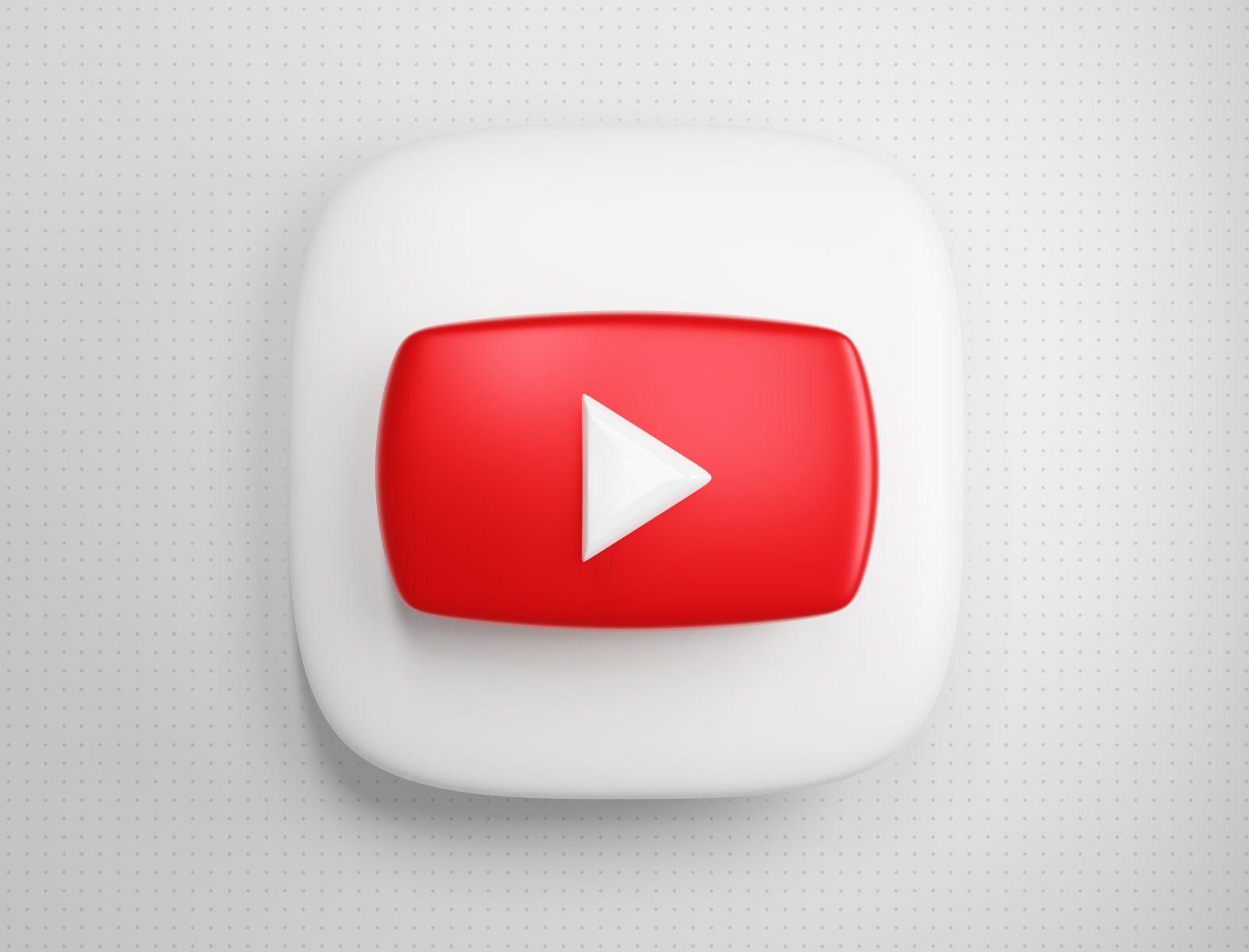 3d Youtube Icon In 2020 App Icon Ios Icon Iphone Icon