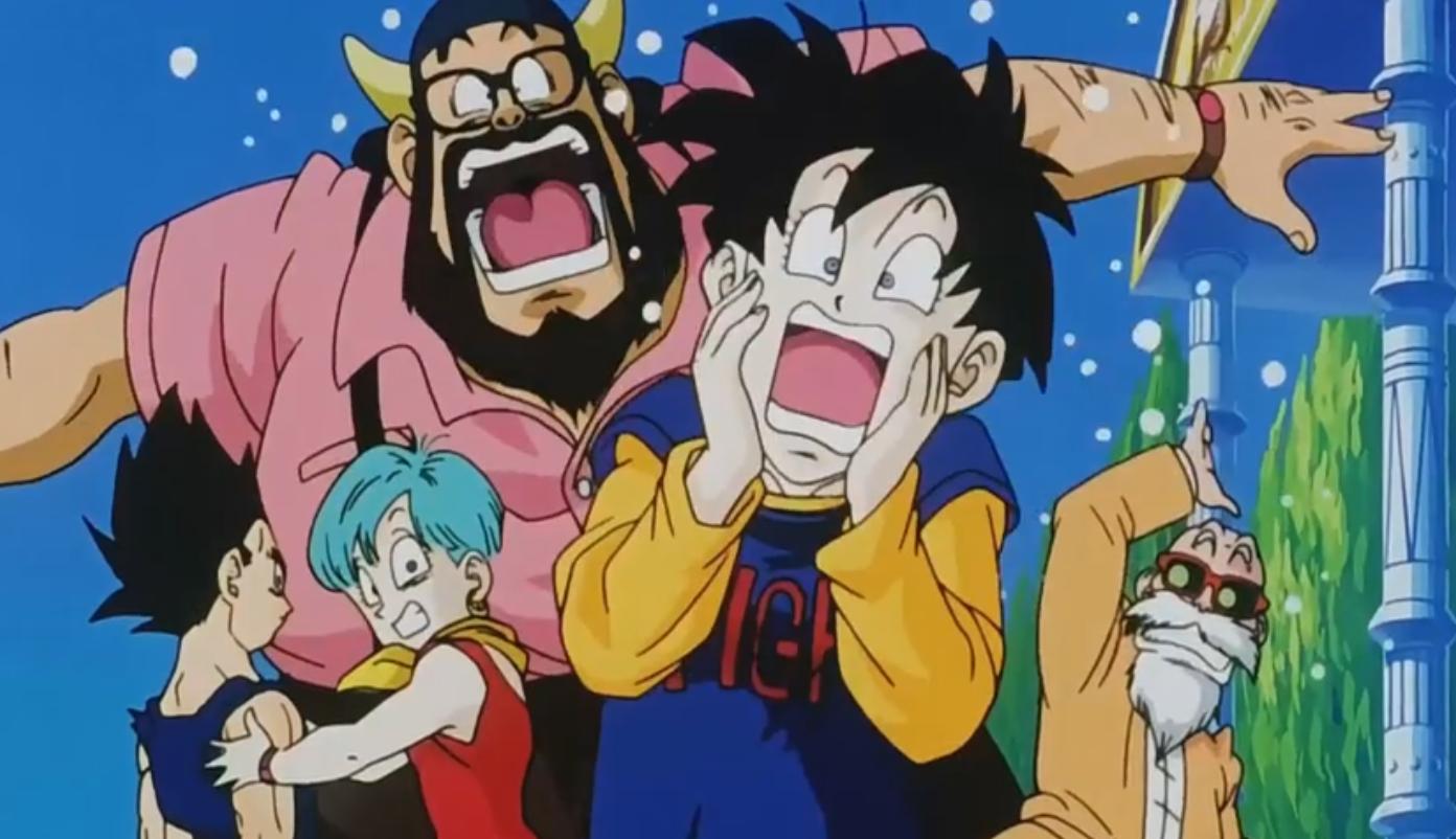 Everyone's reaction when Majin Buu comes around the corner