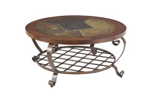 Edgewood Canyon Round Cocktail Table Havertys Chair Side
