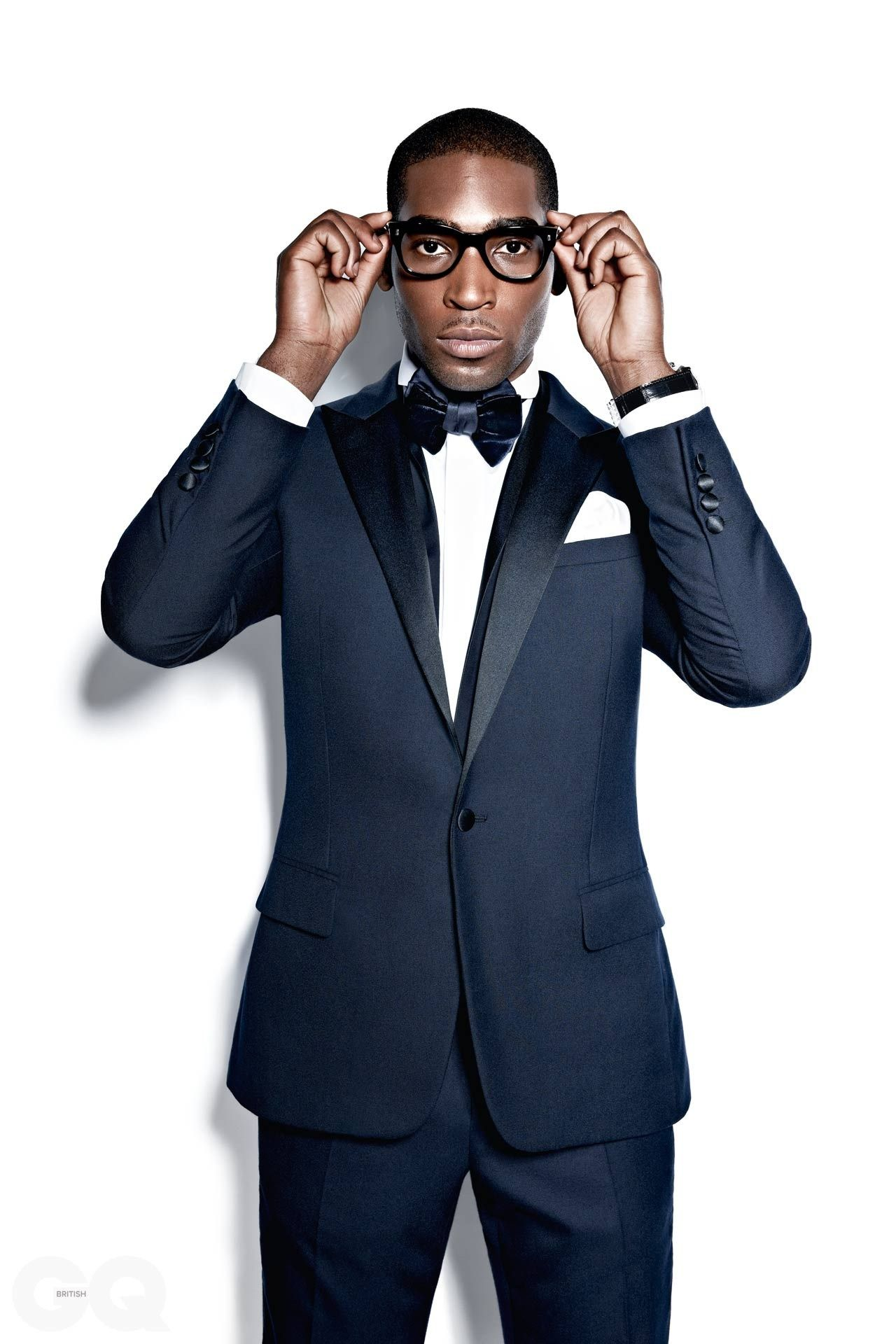 Men's Fashion Tinie Tempah GQ Navy Blue Tuxedo