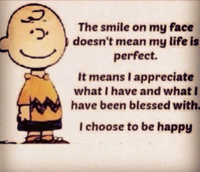 Charlie Brown Quotes About Life: Charlie Brown...The Smile On My Face Doesn't Mean My Life