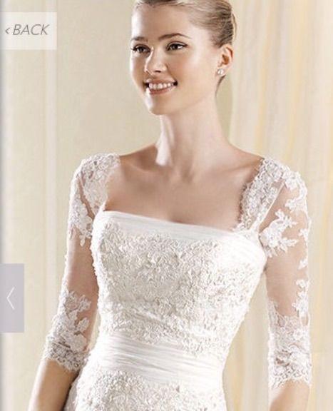 Detachable lace wedding dress straps