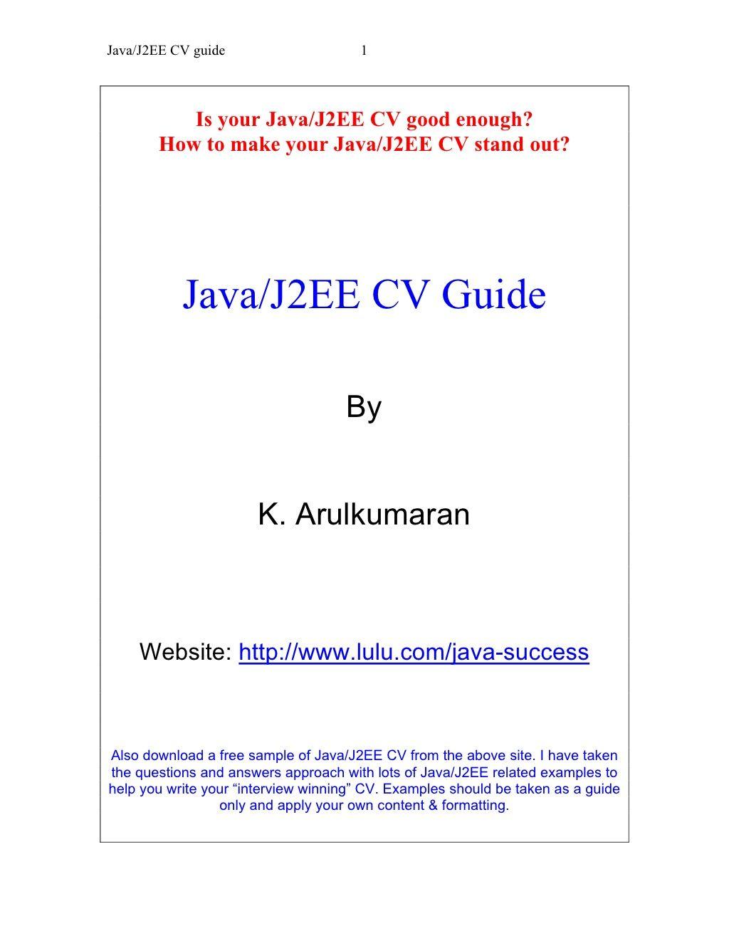 java-j2-eecvguide by Raghavan Mohan via Slideshare | pintu | Pinterest