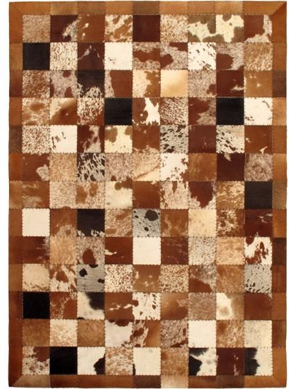 Cowhide Patchwork Rug Love All The Different Colors In