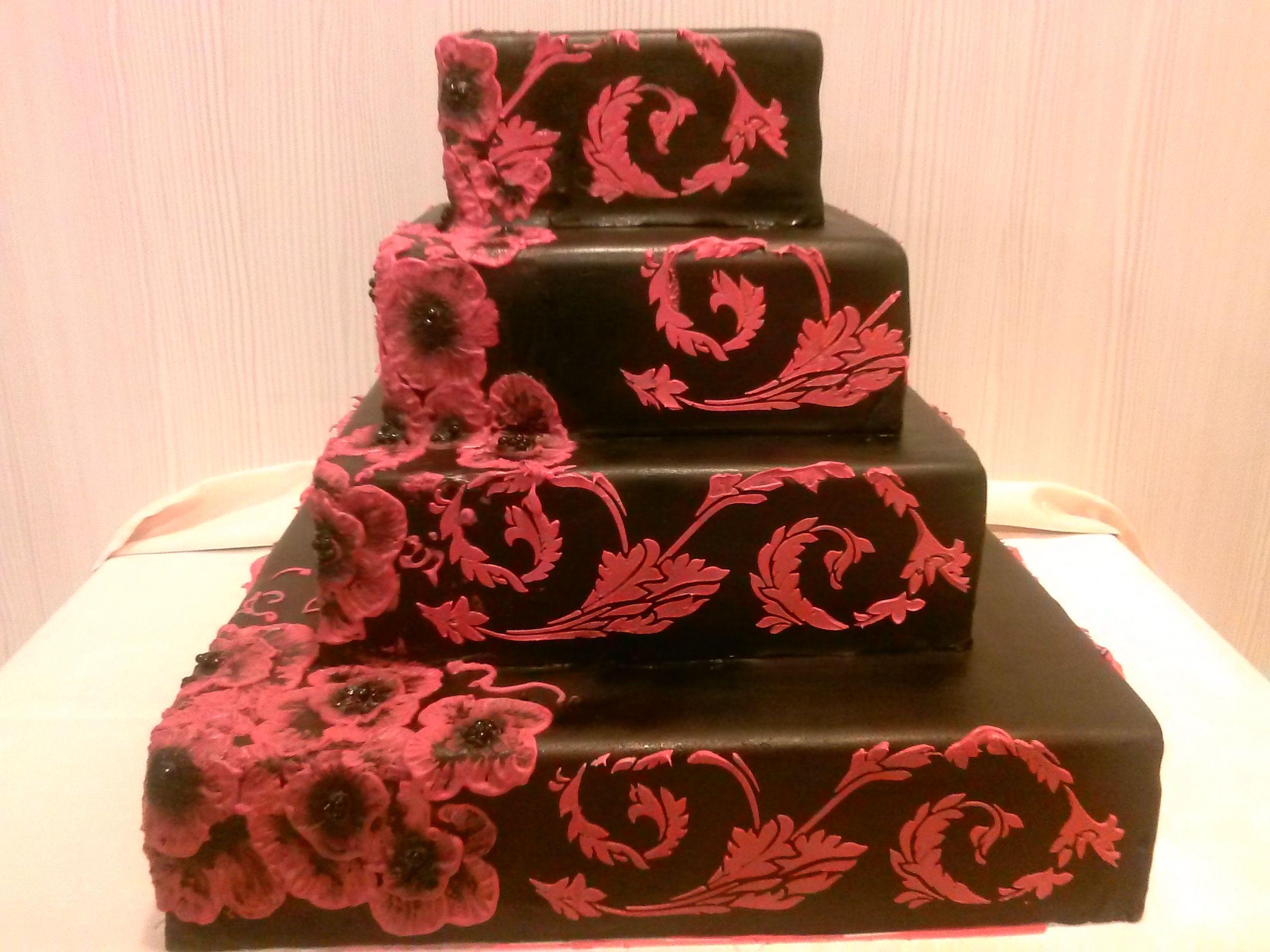 Schwarz Rote Hochzeitstorte Hochzeitstorten Hochzeitstorte