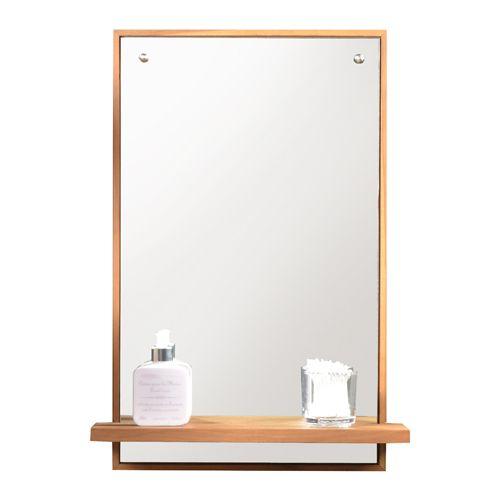 Galyno Teak Mirror 65x45 Teak Mirror Wood Mirror Bathroom Mirror