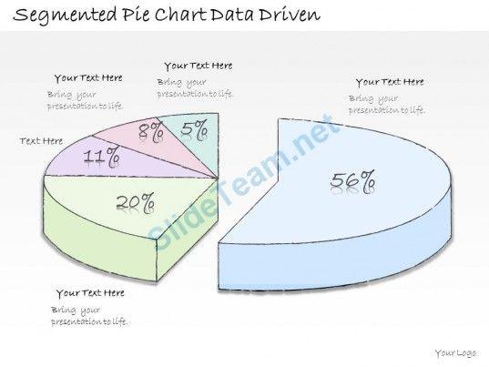 1113 Business Ppt Diagram Segmented Pie Chart Data Driven - pie chart templates