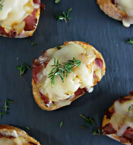#Recipe / Easy Philly Cheesesteak Crostini