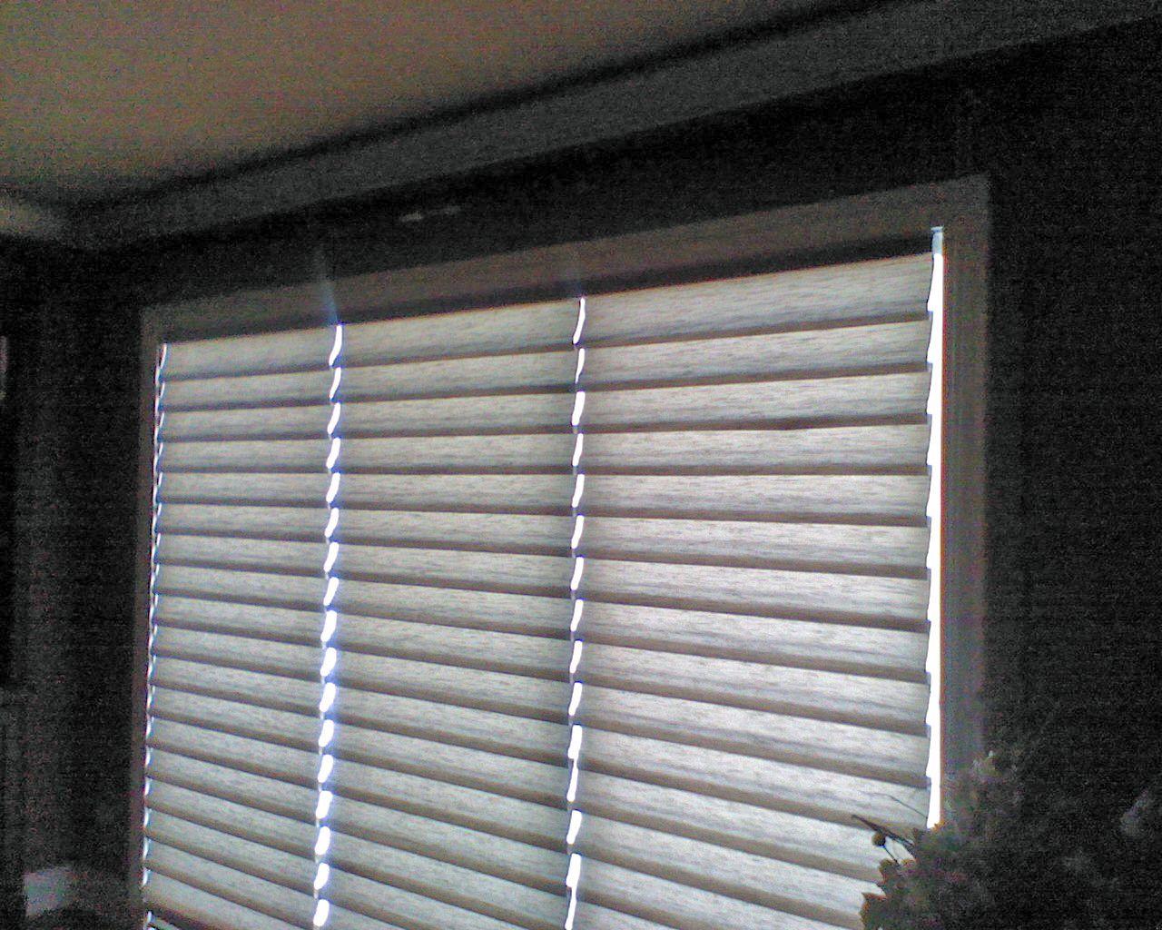 3 cordless vignettes on patio door inside mounts sliding glass