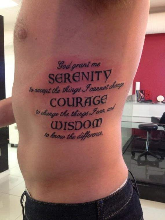 50 Inspirational Saying Lettering and Quotes Tattoos