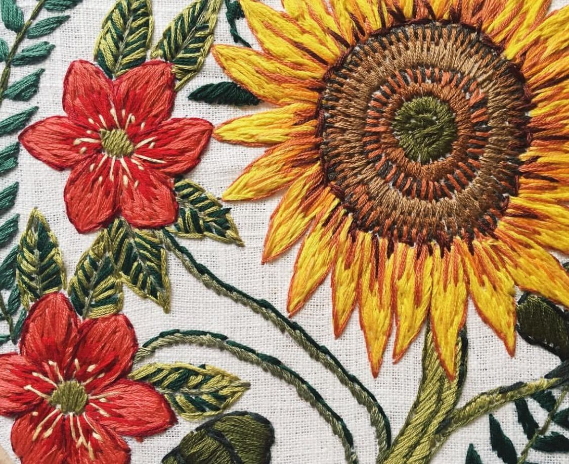 @tessa_perlow · Embroidery NeedlesApplique Embroidery DesignsCrewel  EmbroideryFloral ...