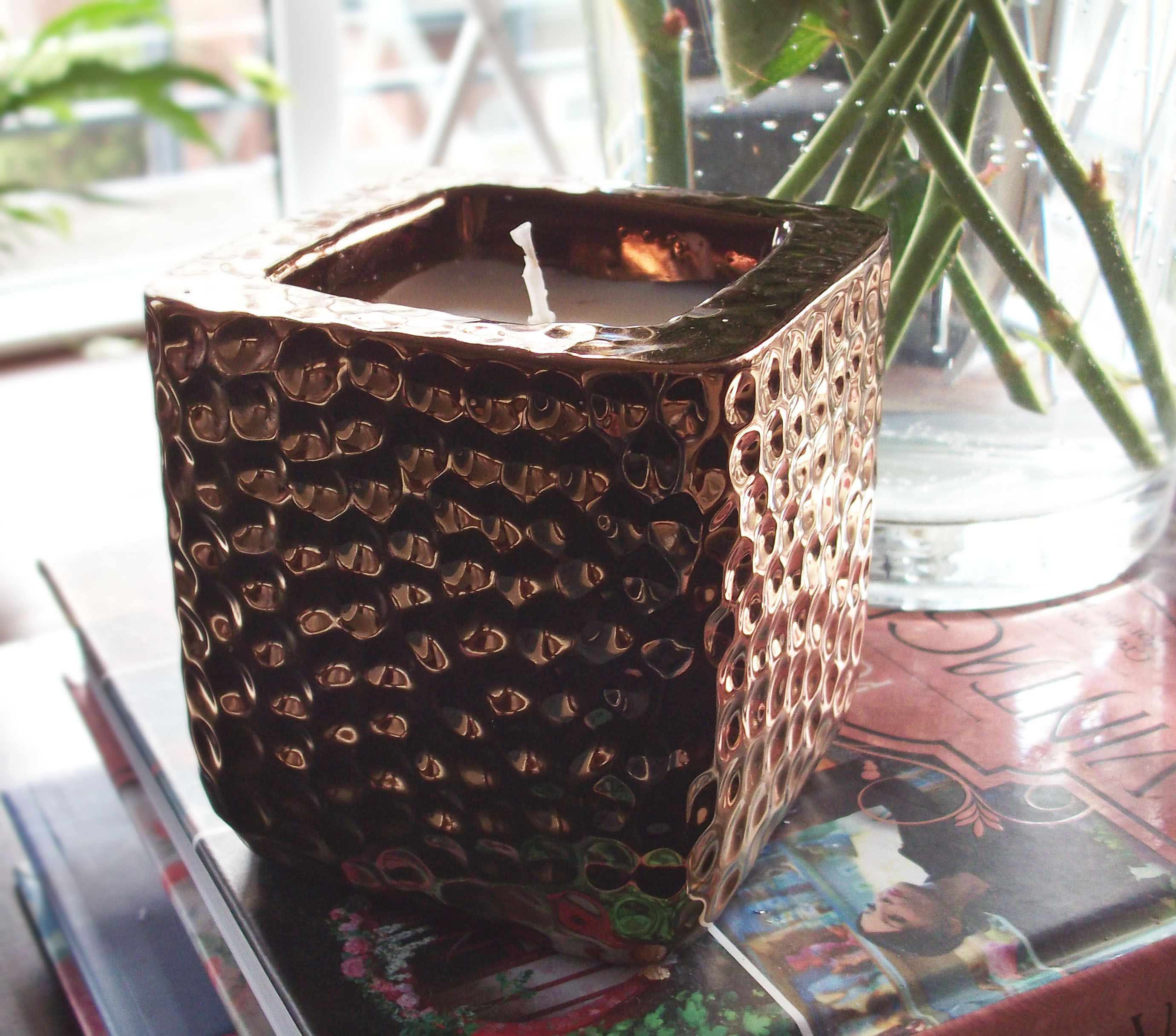 Primark candle in bronze textured pot candle bronze home ideas