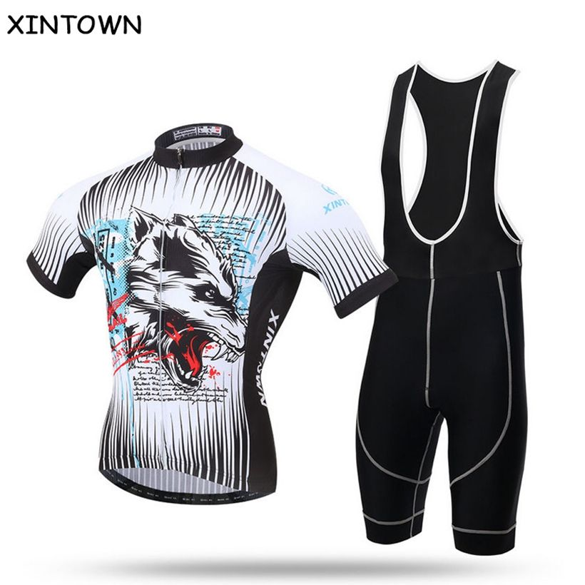 Pants Winter Thermal Fleece Bicycle Bike Bib XINTOWN 2016 Man Cycling Jersey