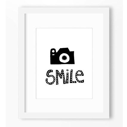SMILE BLACK and WHITE Illustration Typography Art Pop Art Decor Affiche Photo Picture Drawing Ink by BlomArt on Etsy https://www.etsy.com/listing/246642340/smile-black-and-white-illustration