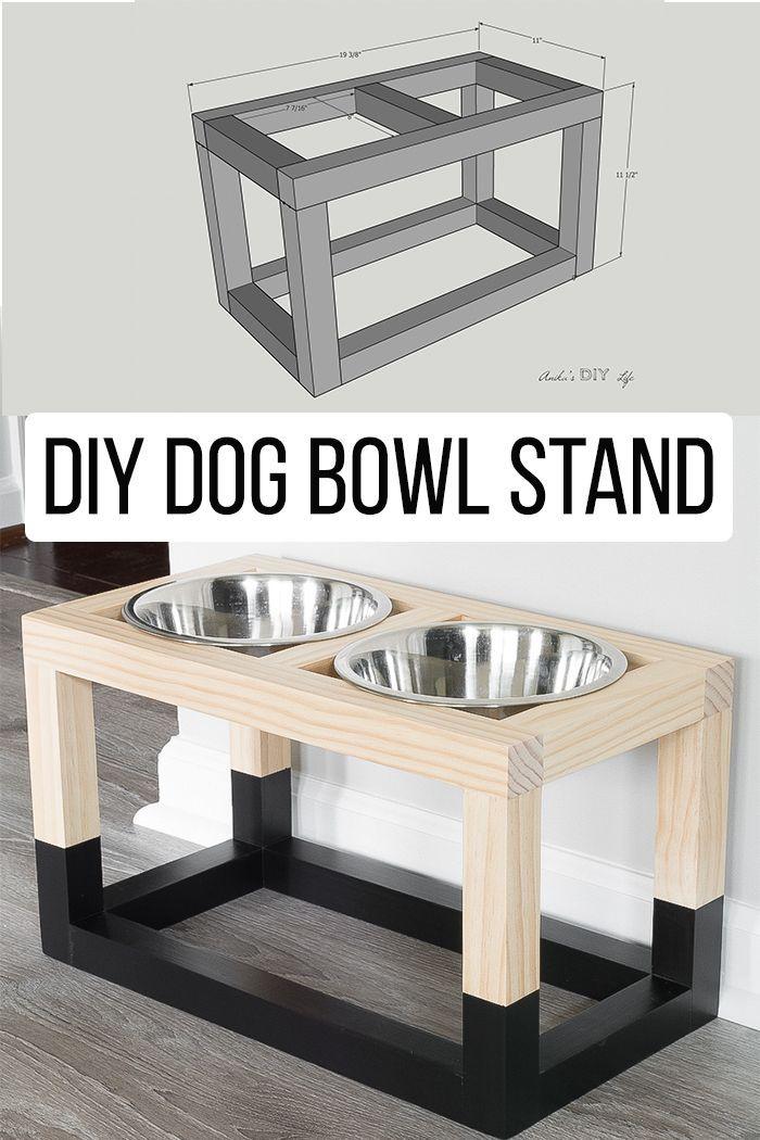 Simple DIY Dog Bowl Stand Plans