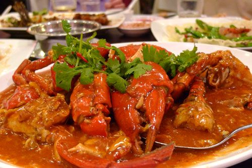 Singapore - Chili Crab...with bread... | Chili crab ...