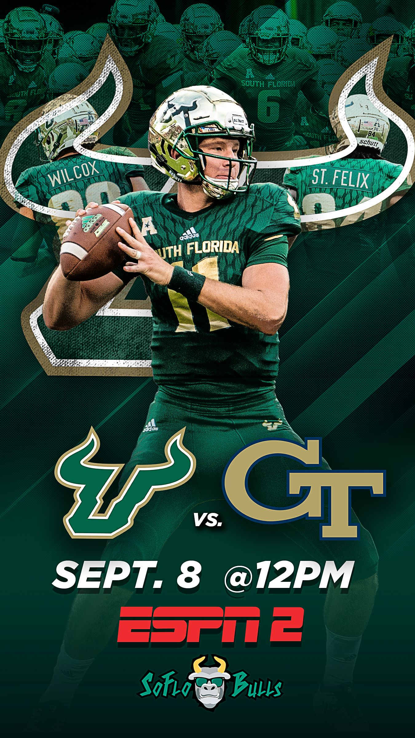 USF Game Day Promo for week 2 vs Tech. The
